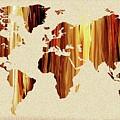 Earthy Glow World Map by Irina Sztukowski