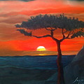 East African Sunset by Dunbar's Modern Art