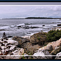 East Boothbay, Maine Ocean View, Framed by Sandra Huston