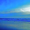 East Coast Florida Daytona Beach Morning Walkers   by Tom Jelen