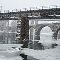 East Falls - The Frozen Schuylkill River by Bill Cannon