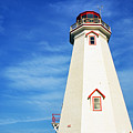 East Point Lightstation Prince Edward Island by Thomas R Fletcher