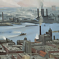 East River From Shelton Hotel by Georgia O'keeffe