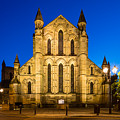 East Side Of Hexham Abbey At Night by David Head