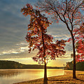 East Texas Autumn Sunrise At The Lake by Todd Aaron