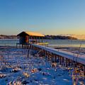 East Texas Snow, Lake Bob Sandlin, Texas. by Elizabeth Greene