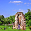 East Window Remains Of Old Church At Ticknall by Rod Johnson