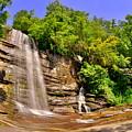 Eastatoe Falls/twin Falls 2 by Lisa Wooten