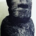 Easter Island Stone Statue by Eric  Schiabor