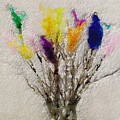 Easter Tree- Abstract Art By Linda Woods by Linda Woods