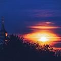 Eastern Orthodox Church Under Full Moon by Srdjan Kirtic