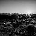 Eastern Sierra Sunset In Monochrome by Margaret Pitcher
