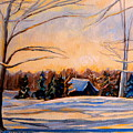 Eastern Townships In Winter by Carole Spandau
