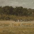 Eastman Johnson 1824 - 1906 Landscape Sketch by Eastman Johnson