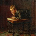 Eastman Johnson - Reading Boy by Eastman Johnson