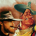 Eastwood And Wayne by Rick Wiles