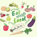 Eat Local  by Priscilla Wolfe