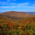 Eaton Hollow Overlook On Skyline Drive In Shenandoah National Park by Louise Heusinkveld