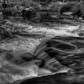 Eau Claire Dells Black And White Flow by Dale Kauzlaric