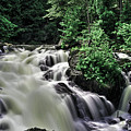 Eau Claire Gorge Water Fall by Ron Simpson