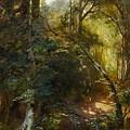 Ebert, Carl 1821 Stuttgart - 1885   Inside A Forest. by Ebert Carl
