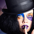 Eccentric Mad Fashion Hatter In Colourful Makeup by Jorgo Photography - Wall Art Gallery