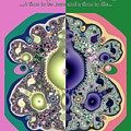 Ecclesiastes 3 A Time To Be Born And A Time To Die Fractal by Rose Santuci-Sofranko