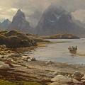 Eckenbrecher, Karl Paul Themistokles Von Athens 1842 - 1921 Goslar Norwegian Fjord by Karl Paul Themistokles Von