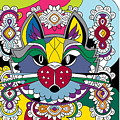 Eclectic Cat by Kathy Watson
