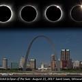 Eclipse - St Louis Skyline by Harold Rau