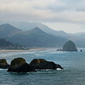 Ecola State Park View Of Haystack Rock And 3 Arch Rocks by Renee Hong