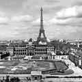 Ecole De Guerre   Eiffel Tower, Paris, France ,circa 1948 by California Views Archives Mr Pat Hathaway Archives