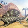 Edaphosaurus Dinosaur - 3d Render by Elenarts - Elena Duvernay Digital Art