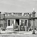Edcouch Texas Gas Station 1939 by Daniel Hagerman