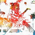 Eddie Van Halen Paint Splatter by Dan Sproul