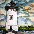 Edgartown Lighthouse Martha's Vineyard Mass by Derek Mccrea