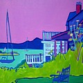 Edgartown Porches by Debra Bretton Robinson