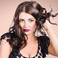 Edgy Hair Fashion Model With Brunette Hairstyle by Jorgo Photography - Wall Art Gallery