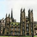 Edinburgh Architecture 3 by Chuck Kuhn