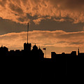 Edinburgh Castle Silhouette  by Chuck Kuhn