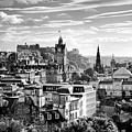 Edinburgh From Calton Hill.    Black And White by David Lyons