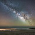 Edisto Beach Milky Way  by Michael Ver Sprill