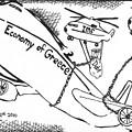 Editorial Maze Cartoon - Economy Of Greece By Yonatan Frimer by Yonatan Frimer Maze Artist