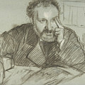 Edmond Duranty by Edgar Degas
