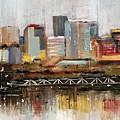 Edmonton Skyline Abstract1 by Eduardo Tavares