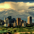 Edmonton Skyline  by David Dehner