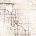 Edmonton Street Map Colorful Copper Modern Minimalist by Jurq Studio