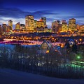 Edmonton Winter Skyline by Corey Hochachka