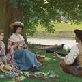 Edmund Blair Leighton 1852-1922 A Picnic Party by Edmund Blair Leighton