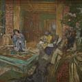 Edouard Vuillard  Sewing Party At Loctudy by Edouard Vuillard